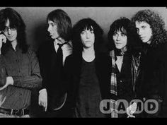 In 1978 the Patti Smith Group released the Patti Smith/Bruce Springsteen co-penned tune -Because The Night. The song was first preformed live at CBGB's in New York City on December with Springsteen joining on vocals and guitar. Patti Smith Group, Entree Festive, Rock N Roll, Rock Videos, 70s Music, Chant, Rock Legends, Types Of Music, My Escape