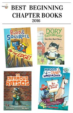 Best beginning chapter books- 2016 from @ImaginationSoup!