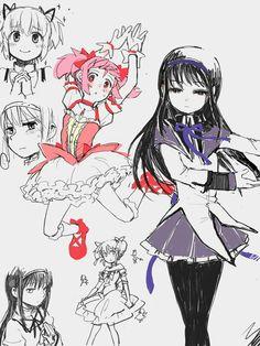 Puella Magi Madoka Magica Anime Chibi Art Blue Exorcist Sayaka Miki