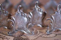 sterling silver monogrammed knife rests