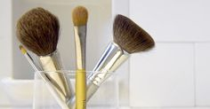 How to Clean Your Makeup Brushes via @PureWow...Hint...it requires olive oil.  Who knew?