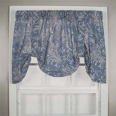 Floating Leaves Tie Up Valance in Blue Color : top treatments