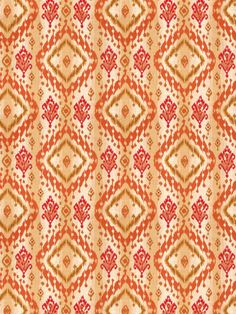Ikat Paisley in color Canyon from the Isabelle de Borchgrave collection for Fabricut.