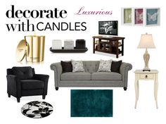"""""""Decorate With Candles"""" by holly32196 ❤ liked on Polyvore featuring interior, interiors, interior design, home, home decor, interior decorating, LifeStyle Solutions, Dolce&Gabbana, Sphinx by Oriental Weavers and Betty Jackson"""