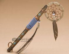 Native American Purple Beaded Spirit Stick