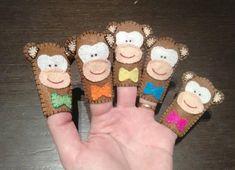 Felt finger puppets five little monkeys