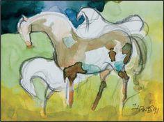 Stallions - Milford Zornes (1991)