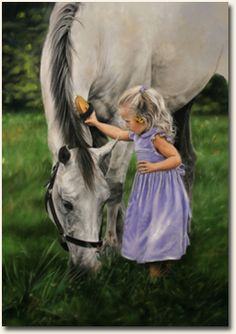 Grace and the Gray -HK Fine Art & Prints by Lesley Harrison - Children Art Prints & Gifts