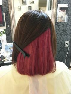 Hair Color Streaks, Hair Color Pink, Hair Dye Colors, Hair Highlights, Underdye Hair, Dye My Hair, Under Hair Dye, Under Hair Color, Peekaboo Hair Colors