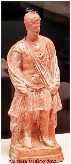 Soldado de terracota. c. 300-250 aC. Realizadas en Beocia, de Tanagra. Terracotta soldier. C. 300-250 BC Made in Boeotia, Tanagra