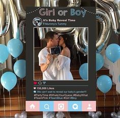 Gorgeous chalkboard Gender Reveal Photo Booth for your special announcement