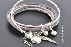 Personalized Leather Wrap Bracelet by Bubidu on DaWanda.com
