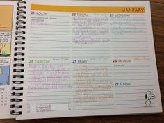 FACS Classroom Ideas: Another Use for a Planner...
