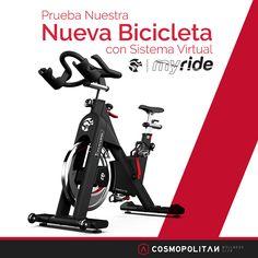 Si te gusta el #Spinning tienes que subirte a esta #bici y experimentar la experiencia de pedalear por fondos con paisajes naturales, música motivadora y muchas más opciones. Come on!!!