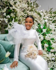 Civil Wedding Dresses, Dream Wedding Dresses, Wedding Attire, Bridal Dresses, Flower Girl Dresses, African Lace Dresses, African Fashion Dresses, Afro, Party Dresses
