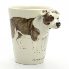 American Pit Bull Terrier Coffee Mug a unique gift for pet lover. $55.00, via Etsy.