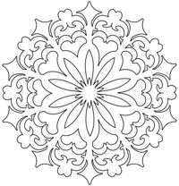 Printable Printable Mandala Stencil With Template Border : Printable Printable Mandala Stencil With Template Border Ideas Gallery : Free Coloring Pages for Kids Rangoli Colours, Rangoli Patterns, Stencil Patterns, Rangoli Designs, Embroidery Patterns, Rangoli Ideas, Stencil Designs, Mandala Coloring, Colouring Pages