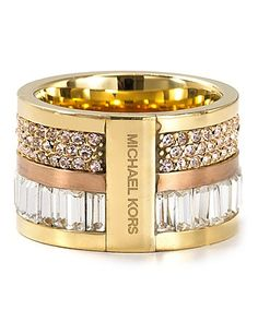 Michael Kors Barrel Ring. LOVE.