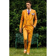 Italian suit made of pure pure cotton with lace cuffs, 1 Corozo button, … - Men's Fashion Guide Suit Fashion, Mens Fashion, Gilet Costume, Double Breasted Vest, Orange Suit, Mode Costume, Samba Costume, Herren Style, Mens Style Guide