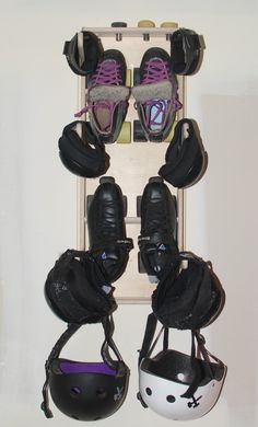 Roller Derby Gear Rack - Obrary  I NEED THIS!!!  I'm sure my team mates would appreciate it if I actually aired out my gear lol