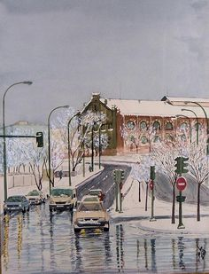Nieva en Madrid