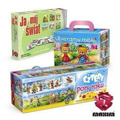 Zestaw 3 gier edukacyjnych MAXIM, którezapoznają dziecko z kalendarzem i porami roku. Pomagają w zapamiętaniu i skojarzeniu zjawisk przyrodniczych i atmosferycznych.W skład zestawu wchodzi:-UBIERAMY MISIE-JA I MÓJ ŚWIAT Cztery Pory Roku-CZTERY PORY ROKUW ZESTAWIE MAXIM TANIEJ!