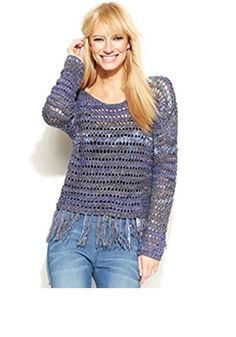 INC Womens Long Sleeves Open Stitch Pullover Sweater Blue M. Twilight Color. Medium. Imported #Apparel #SWEATER