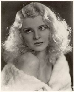 An alluring, beautiful portrait of American actress/dancer Claire Luce