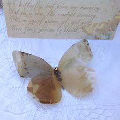 Luxury Vellum Paper Memory Butterfly your choice of by flutter2me