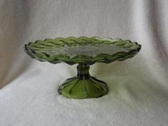 Green Glass Cake Stand Fairfield Cake by OkieGirlBlingnThings