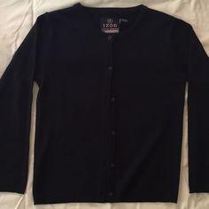 Navy Cardigan Navy blue cardigan, never worn IZOD Jackets & Coats