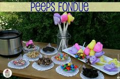 Power to the Peeps! Fun and easy Easter decorations.