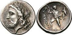 Phemius, The Ithacan Poet From The OdysseyPhemius is portrayed here on the reverse of a silver hemidrachm coin from ancient Thessaly, minted by the Ainianes. They were essentially a tribal people/state with their capital at Hypata, rather than a conventional Greek polis. The coin dates from the 360s to 650s BC. Phemius is shown nude but for a belt holding a short sword in a scabbard and a chlamys draped over his shoulders and arm. He's hurling a javelin with his right hand and holding...