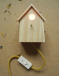 DIY bird house lamp