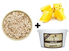 Protein Power Totally Tropical Porridge  Make up the oats with Coyo coconut yoghurt, then stir through chunks of pineapple or mango  The Benefits: • Coconut milk: Coconut milk contains acids with antibacterial, antifungal and antiviral properties • Pineapple: Along with 80% of your daily vit C, this super fruit helps break down protein
