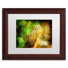 Lois Bryan 'Going Nuts' Matted Framed Art
