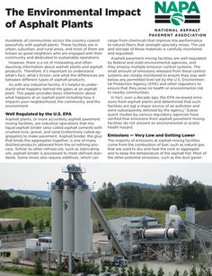 SR 206 discusses the environmental impact of asphalt plants on communities.