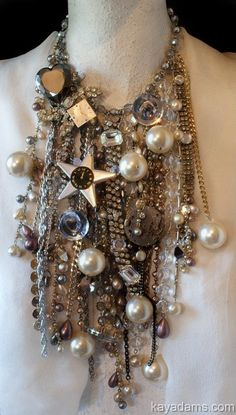 INSaNE Necklace. Show. It. Off.  PARTAY TIME. Hollywood on Your Neck. OVeR ThE ToP Statement. A3134 Kay Adams.. $595.00, via Etsy.
