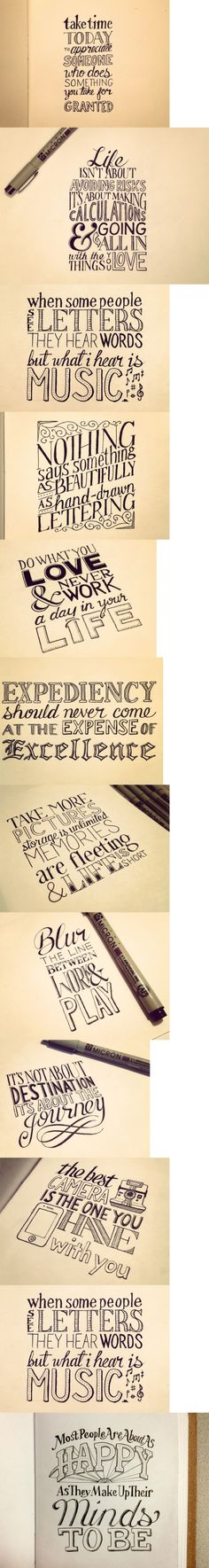 hand lettering!!