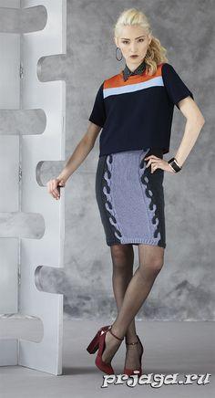 Вязание спицами юбки