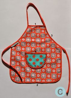 Pour vos petits artistes en herbe ou apprentis cuisiniers, je vous ai concocté un petit tablier très simple à réaliser: Taille 4-5 ans ...