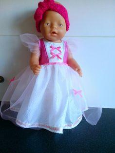 Prinsessenjurk gemaakt voor babyborn (43 cm)
