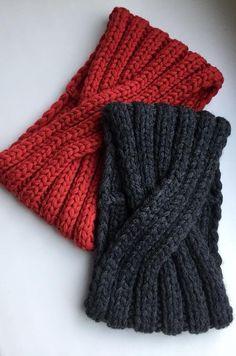Knit Headband-100% Merino Wool Headband-Women headband-Red headband-Turban laine