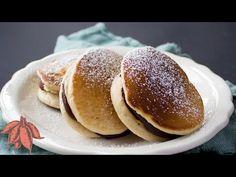 Vegan Dorayaki Japanese Pancake with Red Bean Paste Filling