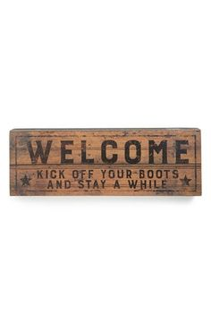 Primitives by Kathy 'Welcome' Box Sign