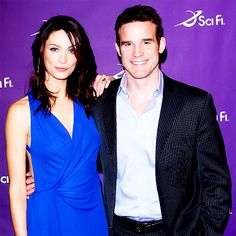 Joanne Kelly and Eddie McClintock aka Myka and Pete. WH13... I'm going through withdrawals