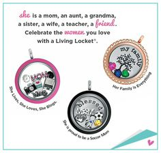 Origami Owl locket ideas for that special woman in your life!  Origami Owl  http://whootasticcharms.origamiowl.com  Follow me on www.facebook.com/whootasticcharms Join my team at http://whootasticcharms.origamiowl.com/EnrollApproved.ashx Mentor ID 11397783