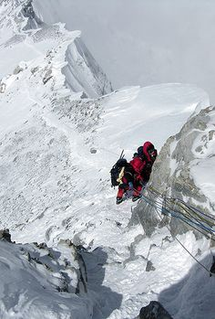 Getting Sele down - Mt. Everest Photos / Picture Gallery - Mount Everest Pictures