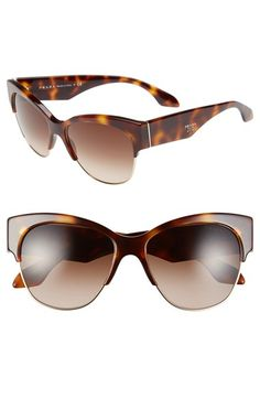 Prada 'Fashion Catwalk' 56mm Cat Eye Sunglasses | Nordstrom