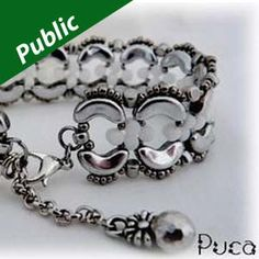 JULIA BRACELET Using Arcos® and Minos® Par Puca® Beads Provided by Puca, Translated by Leslie Rogalski